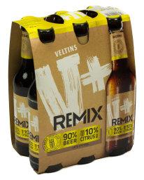 Veltins V+ Remix 90% Beer 10% Citrus 6 x 0,33 l Glas MW