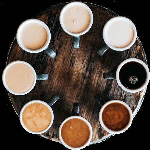 Kaffeetassen Kreis