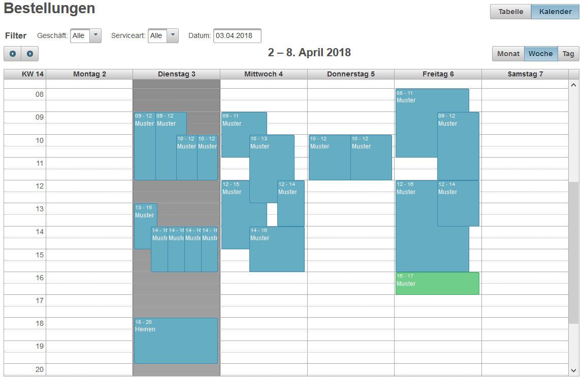 Bestellkalender