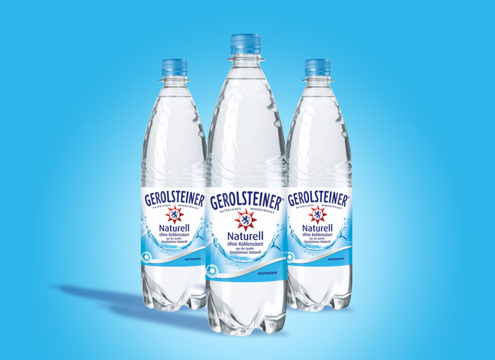 Foto Gerolsteiner Mineralwasser Naturell Kasten 12 x 1 l PET Mehrweg