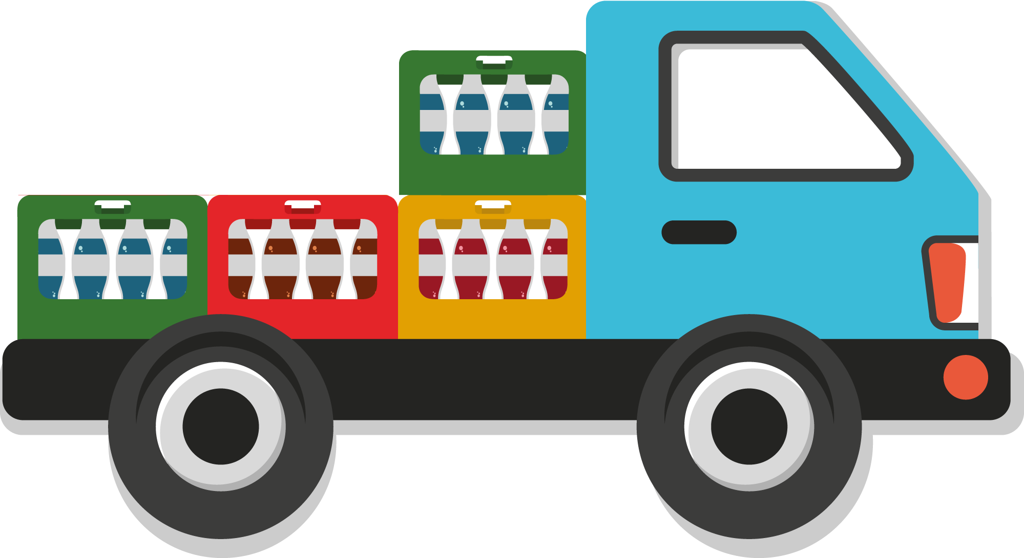Lieferwagen mit Getränkekisten